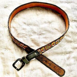 Free People black embroidered belt